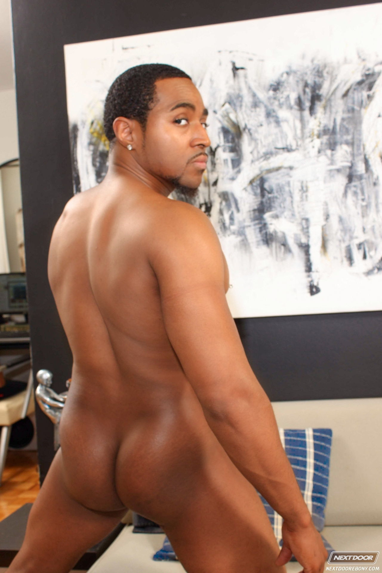 Nude black men show their anus seems