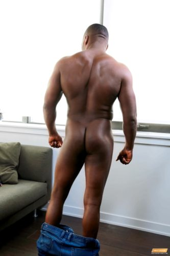 Black male muscle nude